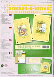 Kaartkit Sticker-O 61.4444 L geel