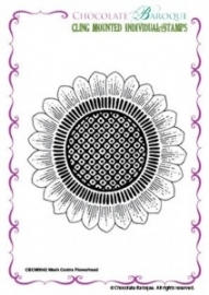 Mesh Centre Flowerhead cling mounted rubber stamp 042