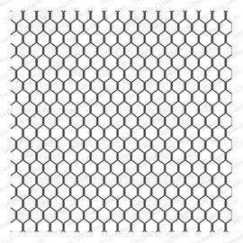 IO Chicken Wire CC155 CLING background stamp