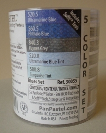 Panpastels set van 5 Blue set