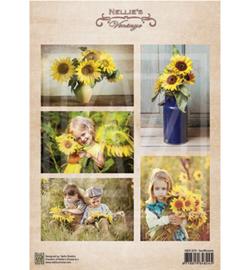 NEVI079 Vintage Decoupage Sheet Sunflower