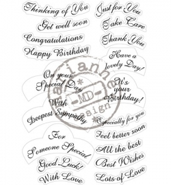 MD Clearstamp Best Wishes CS0916