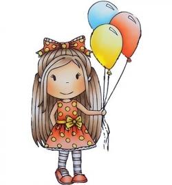 Paper Nest Dolls Birthday Balloon Ellie