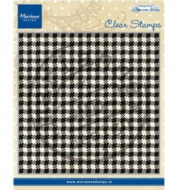 Marianne Design Clearstamp  Anja's plaid CS0938