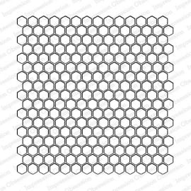 IO  Vintage Honeycomb CC231 CLING background stamp