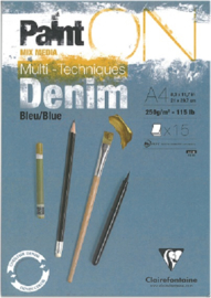 Paint'on Mix Media blok A4 Denim 250g/m² 15 vellen