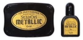 Stazon ink pad Metalic Gold