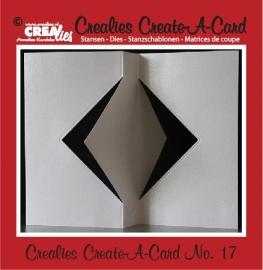 Crealies Create A Card no. 17 stans voor kaart CCAC17