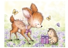 Wild Rose Studio`s A7 stamp set Bluebell with Hedgehog CL376