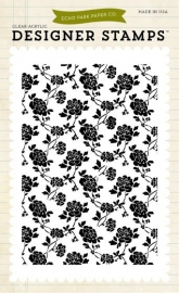 Echo Park Roses 4x6 Inch Clear Acrylic Designer Stamps (EPStamp57)