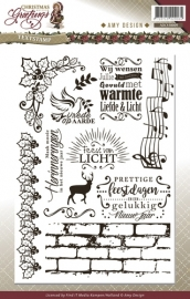Amy Design Clearstamp Christmas Greetings - Tekst ADCS10009