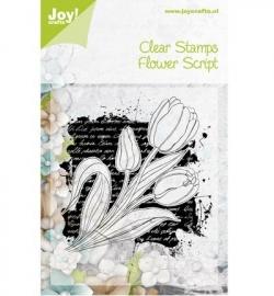 Joy! Clearstamp Flower script 6410/0341
