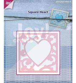 Joy!  Cutting - Vierkant met hart 6002/0445