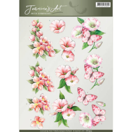 Jeanine's Art - With Sympathy -pink flowers CD10914