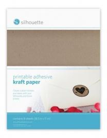 Printable adhesive kraft paper pakket van 8 vellen 216x297mm