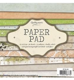 SL paperpad 15x15  36vellen PPSL08