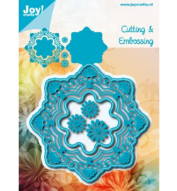 Joy Crafts » Cutting & Embossing Fantastic cirkel + bloemen 6002/0785