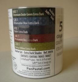 Panpastels set van 5 Extra Dark Shades