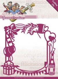 Die - Yvonne Creations - Celebrations - Party Frame YCD10051