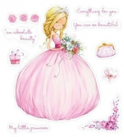 ScrapBerry's Set Of Clear Stamps 10x11 cm Little Princess (SCB071211b)