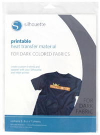 Silhouette Printbare Transferfolie Donkere Stoffen