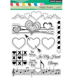 Penny Black Clearstamp Happy hearts 30326