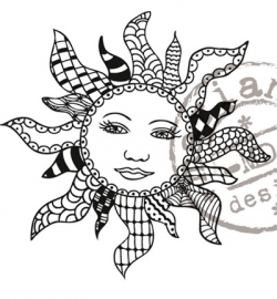 MD clearstamp Doodle sun EWS2208