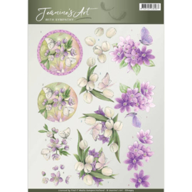 Jeanine's Art - With Sympathy - Violet flowers CD10913