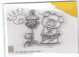 Piggy clearstamp PI008
