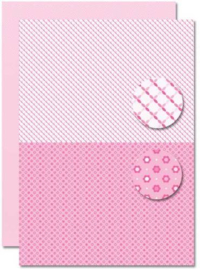 Decoupage sheet - Doublesided - Pink - Babyboy-suns  NEVA083