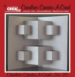 Crealies Create A Card no. 20 stans voor kaart 14,5 x 21 cm / CCAC20