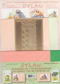 Dylan 3D kaarten kit nr 2 zalm-groen