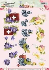 3D Knipvel - Precious Marieke - Seasonal Flowers -Beterschap CD10802