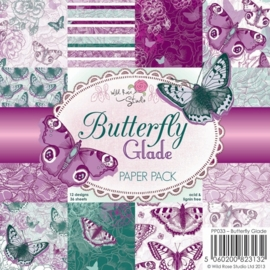 Wild Rose Studio 6x6 Paper Pack Butterfly Glade a 36 VL