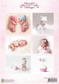 Decoupage sheet - Vintage - Baby-serie - Girl  NEVI075