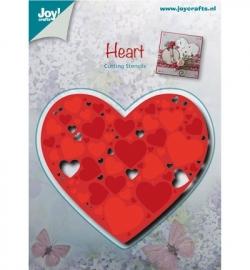 Joy! Snij- en embosmal Hart gevuld met harten 6002/0481