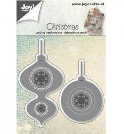 Joy! Cutting & embossing Kerstballen 2st 6002/0589