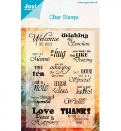 Joy Clearstamp Tekst ENG 6410/0018