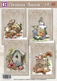 Creatief art Christmas Animals 1 RE2530-0094
