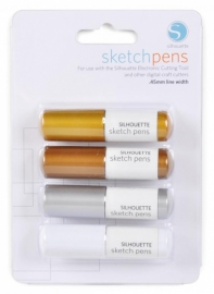 Silhouette Metalic sketch pens