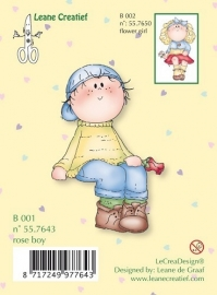 Clearstamp Rose Boy B001 Leane Creatief