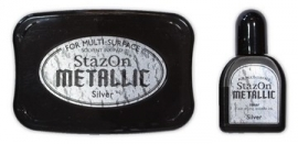 Stazon ink pad Metalic Silver