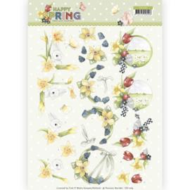 3D Knipvel - Precious Marieke - Happy Spring - Happy Daffodils