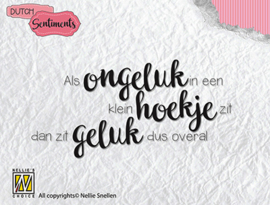 Clear stamp DutchSentiments - Als ongeluk in een klein hoekje SENCS001