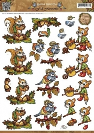 Yvonne Creations - Fall Favourites - Autumn animals CD10411