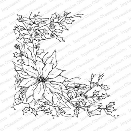 IO Poinsettia Sketch CC220 CLING background stamp