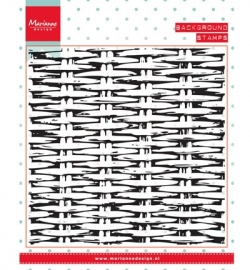 MD Clearstamp Background - Wicker CS0952