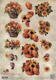 3D Knipvel - Amy Design - Autumn Moments - Herfstbloemen CD10755