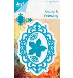 Joy!  Cutting & Embossing - Ovaal met bloem 6002/0459