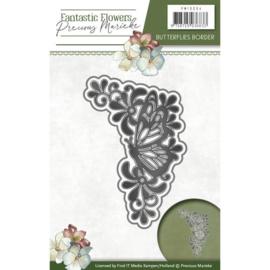 Die - Precious Marieke - Fantastic Flowers - Butterflies border PM10094